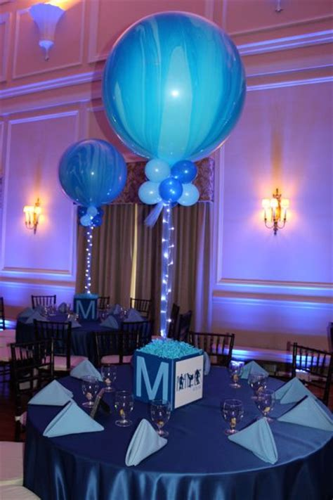photo cube centerpiece  marble balloons projects