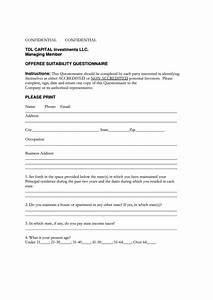 top 17 accredited investor form templates free to download With investor questionnaire template