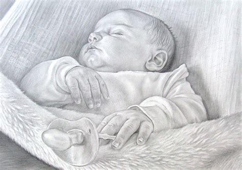 baby portrait portrait bleistift auf papier