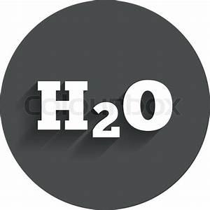 H2o Water Formula Sign Icon  Chemistry Symbol  Circle Flat