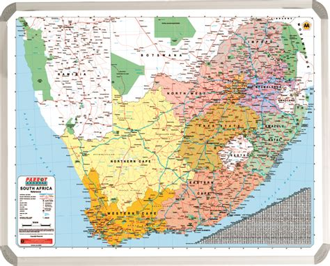 Map South Africa Aa 1200 900mm