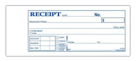 Printable Receipt Template by Blank Receipt Template Exle Mughals