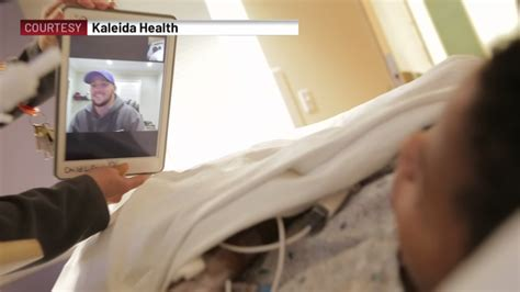 Josh Allen holds virtual visits with Oishei patients