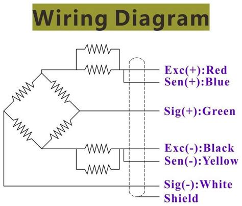 Load Cell Wiring Diagram by Load Cell Transducer Weight Measurement Sensor