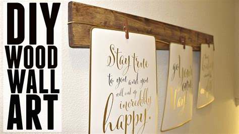 how to make a wall at home diy quick easy wood wall art youtube