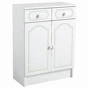 Meuble Salle De Bain Bas : meuble bas salle de bain 2 portes ~ Teatrodelosmanantiales.com Idées de Décoration