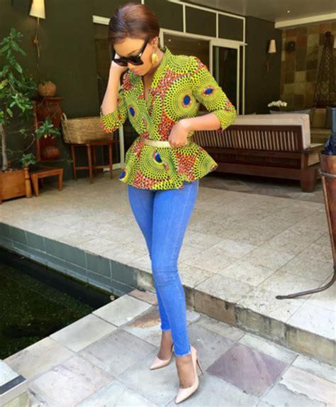 denim dress 360nobs style bonang matheba 360nobs com