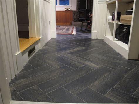 wonderful grey porcelain wood herringbone tile floor and