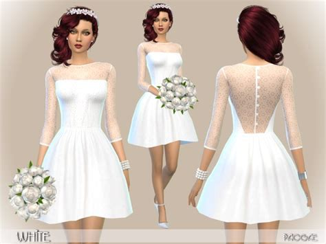 White dress by Paogae at TSR » Sims 4 Updates