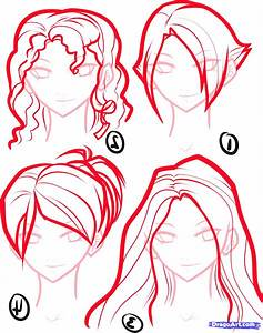 How To Draw Anime Girl Hair Step By Step For Beginners ...