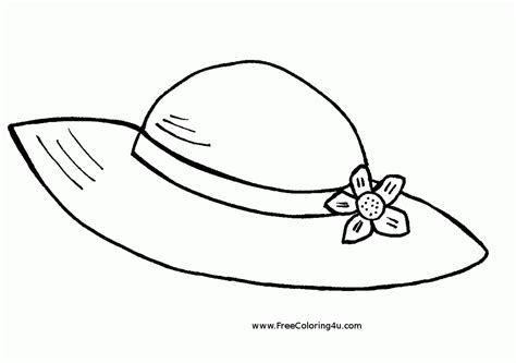top hat coloring page coloring home