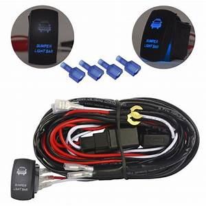 Buy Wiring Harness Kit Blue Led Bumper Light Bar For Jeep