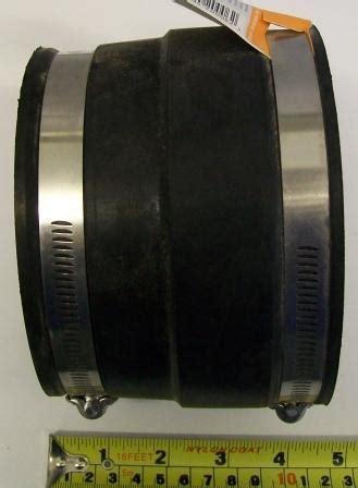flexible rubber soil pipe connector cast iron  plastic