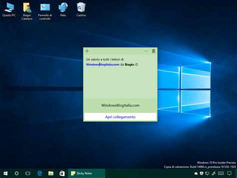 si鑒e microsoft microsoft sticky notes per windows si aggiorna alla versione 1 x x x