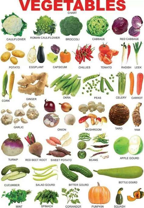 vegetables vocabulary  english eslbuzz learning english