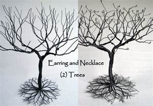 earring and necklace jewelry tree set of 2 jewelry organizer