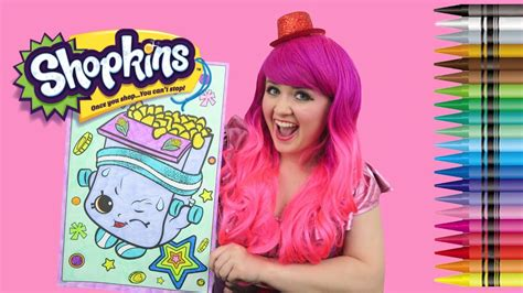 coloring breaky crunch shopkins giant coloring book page