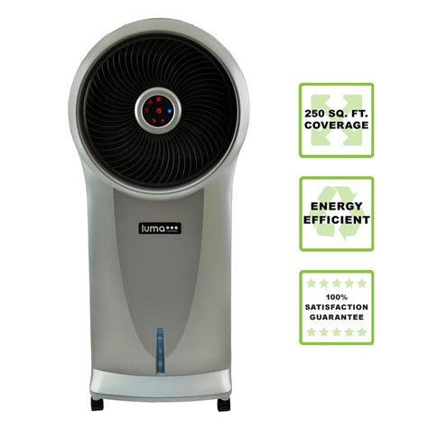 luma comfort ec110s luma comfort 500 cfm 3 speed portable evaporative cooler