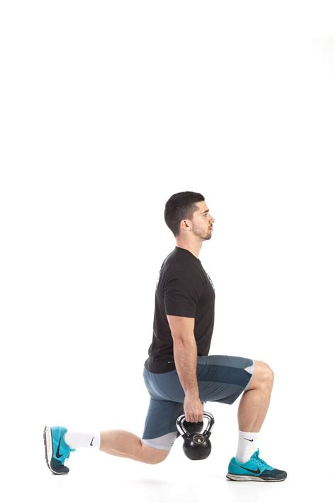 kettlebell lunge reverse exercise workout leg fitness workouts glutes muscles description