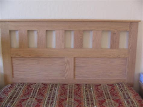 build   craftsman style queen size headboard