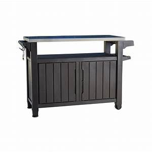 Keter Unity XL 78 Gal Grill Serving Prep Station Cart