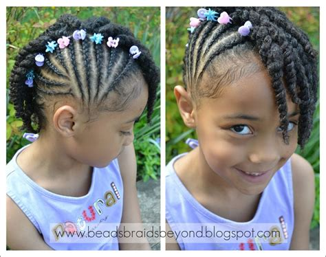 Side Cornrows With Two Strand