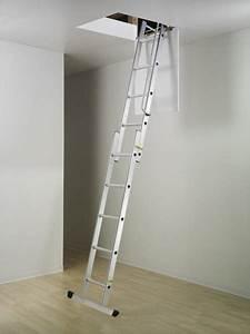 Escalier Escamotable Grenier : escalier escamotable coulissant 2 plans ~ Melissatoandfro.com Idées de Décoration