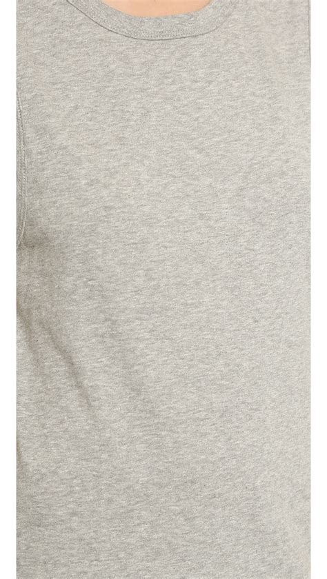 light charcoal grey 6397 muscle tank top light grey heather in gray lyst