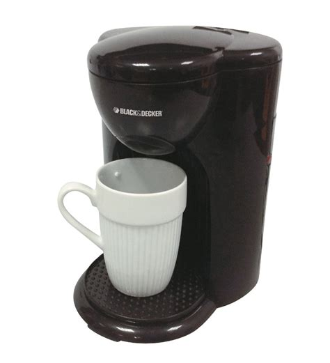 You won't need to wait long since this makes a cup of coffee in less than a minute. best compact: Black & Decker DCM25-B5 1 Cup Drip Coffee Maker by Black and Decker Online - Coffee Makers ...