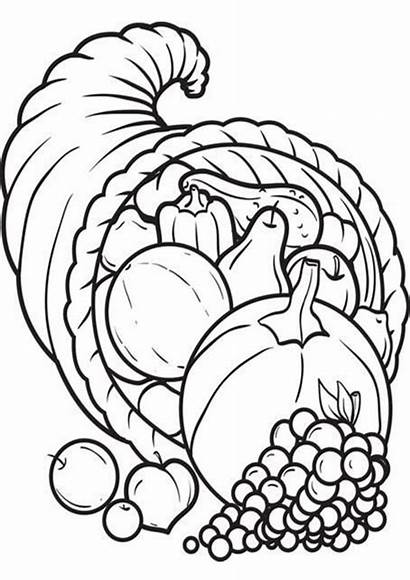 Coloring Pages Thanksgiving Easy Tulamama