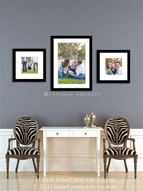 wall display  family session frames entry hall living