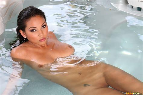 Bikini Model Adriana Luna In Blue Bikini