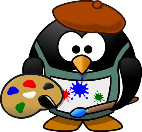 artists clipart artist penguin clip at clker vector clip