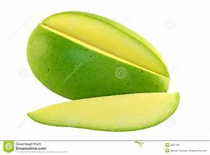 Sliced green mango stock photo. Image of isolated, diet ...