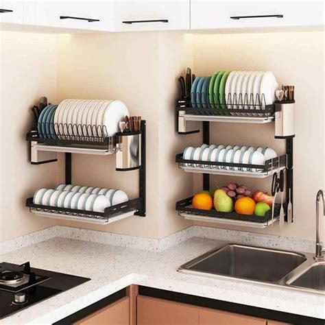 wall mounted adjustable kitchen storage rack grabitall