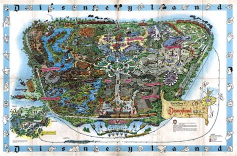 euro disneyland souvenir map disneyland paris treasures