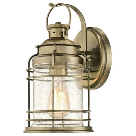 westinghouse kellen 1 light antique brass outdoor wall