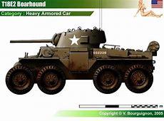 T18E2 Boarhound Armored Car WW II USA MILITARY LAND