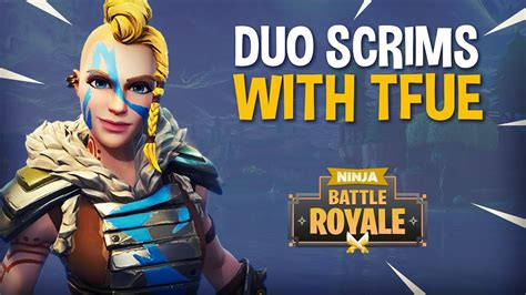 playing duo scrims  tfue fortnite battle royale