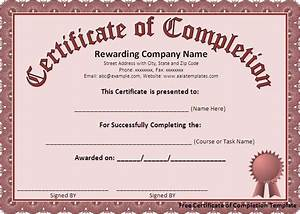 free certificate of completion template download page With certificate templates for word free downloads