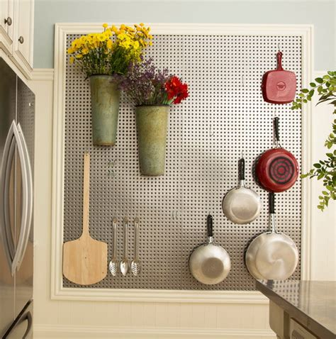 pegboard kitchen storage 32 smart and practical pegboard ideas for your home digsdigs 1446