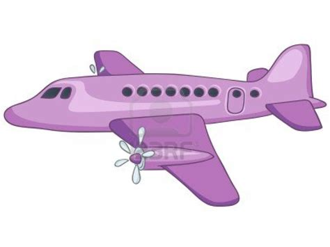 Funny Cartoon Plane Flying For Kids