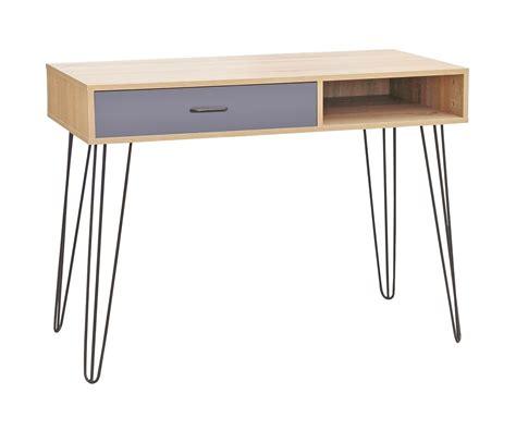 bureau console design meuble sellette console bureau de rangement avec tiroir et niche meuble scandinave 100 x 38