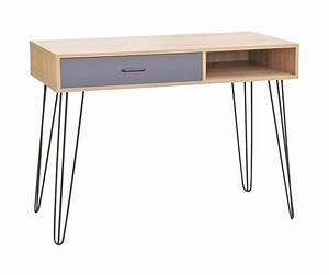 Console Meuble But : meuble sellette console bureau de rangement avec tiroir et niche meuble scandinave 100 x 38 ~ Teatrodelosmanantiales.com Idées de Décoration