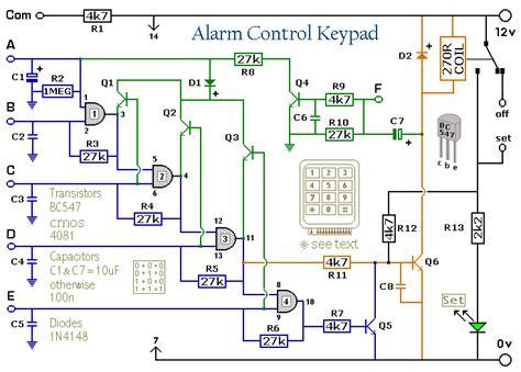 Enhanced Digit Alarm Keypad Circuit Project Alarms