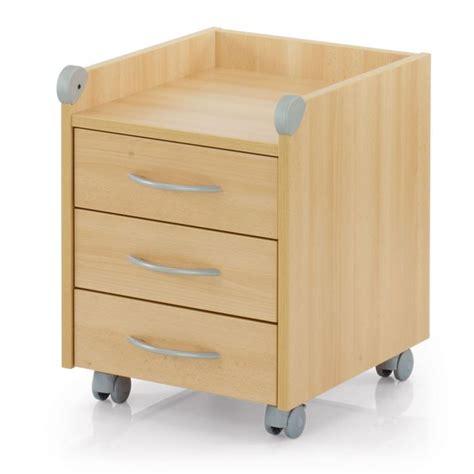 bureau bouleau meuble sur roulettes roll on 3 tiroirs bouleau achat