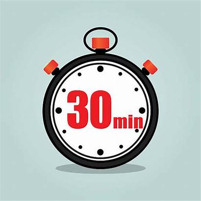 Minutes Thirty Stopwatch Number Vector Illustrations Clock