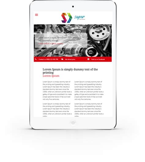 car tuning auto html template