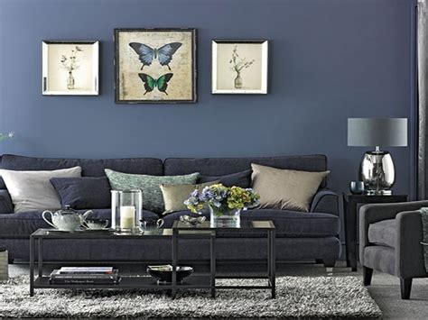 grey and navy blue living room zion star