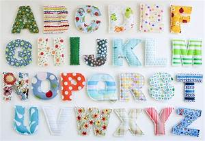 fabric letters rawtornrippeddeconstructed pinterest With fabric magnetic alphabet letters